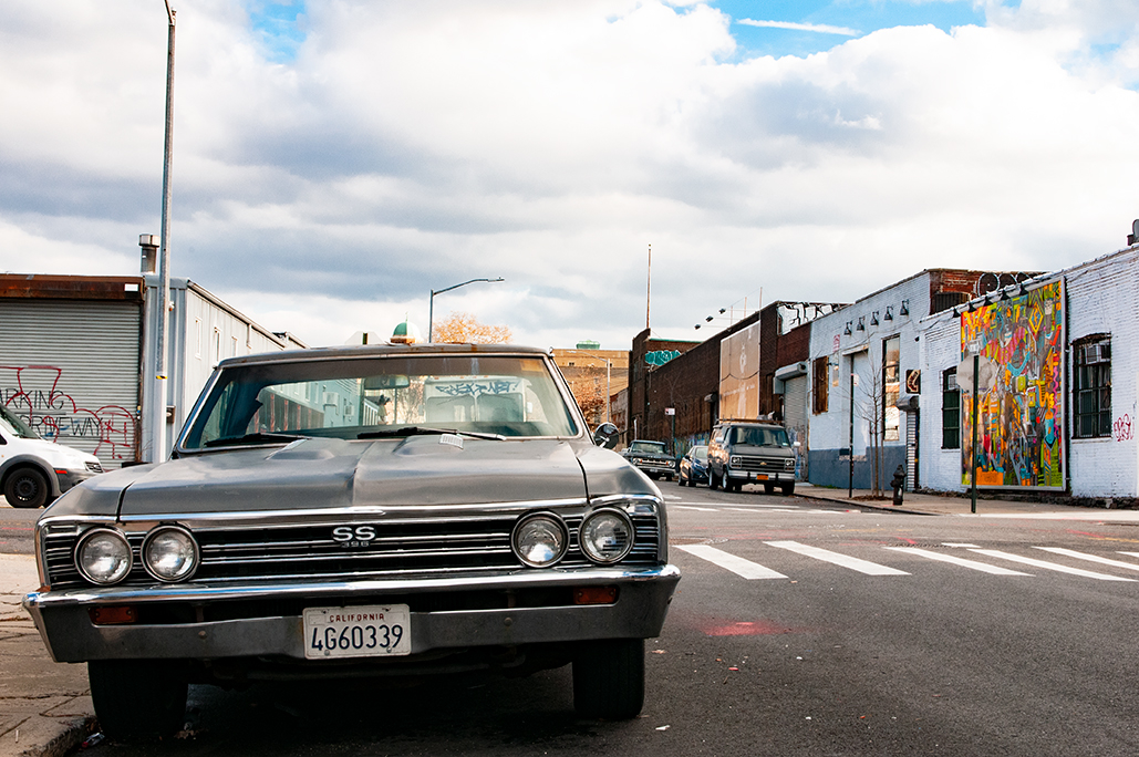 Old Chevrolet in Brooklyn. New York 2018