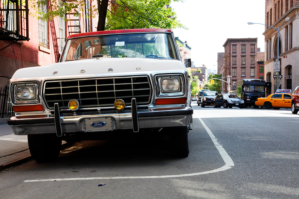 Old Ford car in West Village. New York 2011