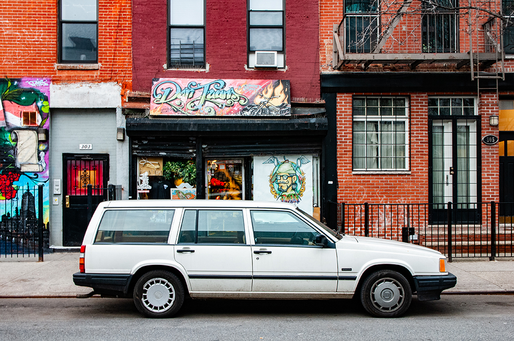 90's Volvo in East Village, New York 2019