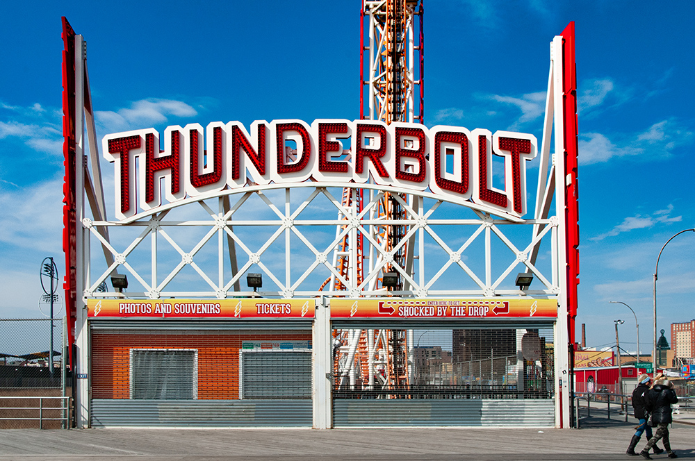 Thunderbolt. Coney Island, Brooklyn. New York 2019.